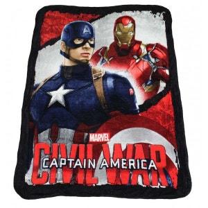 Plaid polaire Iron-man vs Captain America AVENGERS
