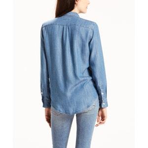 Camisa lisa com gola polo, mangas compridas LEVI'S