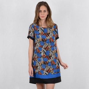 Korte rechte jurk zonder mouwen met grafische print MOLLY BRACKEN