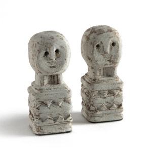 Confezione da 2 statuette in pietra A15 cm, Aphélie AM.PM.