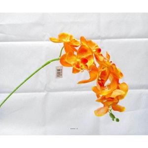 Orchidee Tao artificielle H 105 cm 8 fleurons 5 boutons qualite Pro Orange - couleur: Orange ARTIF-DECO