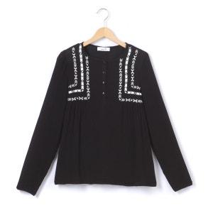 Blouse col polo,  chemise uni, manches longues La Redoute Collections