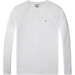 Tee shirt col tunisien uni, manches longues HILFIGER DENIM