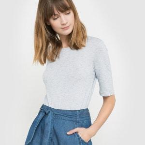 T-shirt in soepel fijn gewafeld tricot R studio