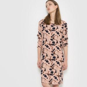 Bedrucktes Kleid, lange Ärmel ICHI