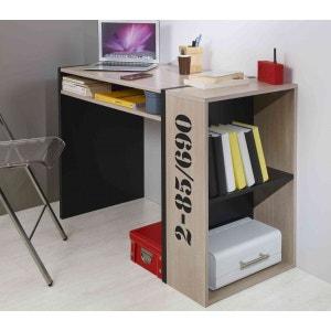 Bureau bibliothèque chêne et noir BU5009 TERRE DE NUIT