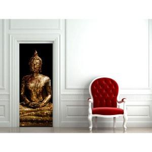 Stickers porte statue Bouddha BONIDAY