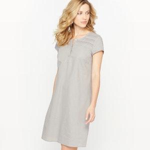 Sukienka, w większości z lnu ANNE WEYBURN