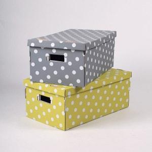boite de rangement en carton avec couvercle la redoute. Black Bedroom Furniture Sets. Home Design Ideas