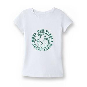 Tee-shirt message, coton issu de l'agriculture bio La Redoute Collections
