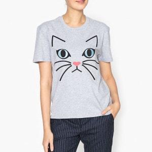 T shirt à motif chat TIMIAOU PAUL AND JOE SISTER