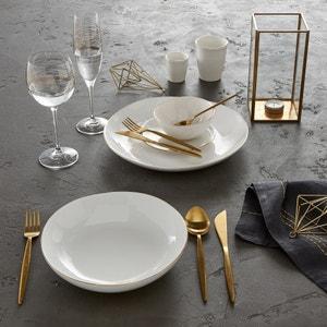 Set of 4 Catalpa Porcelain Dinner Plates AM.PM.