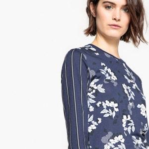 Tee-shirt double imprimé, rayure et fleurs La Redoute Collections