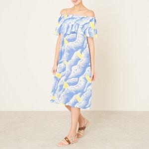 Yael Bardot Silk Mix Dress TOUPY