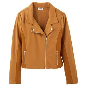 Cropped Zip-Up Biker Jacket MOLLY BRACKEN