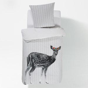 Capa de edredon BAMBI FLEURS, estampada, em algodão. La Redoute Interieurs