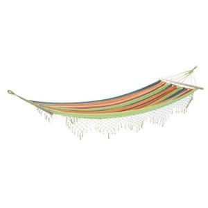 Hamac rayé multicolore avec franges AUBRY GASPARD