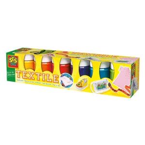 Peinture textile moderne 6 pots de 50 ml : Tendance SES CREATIVE