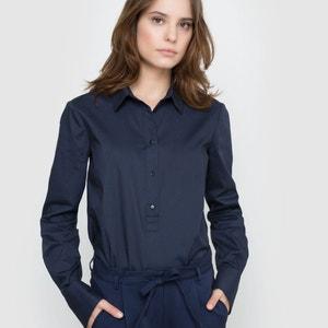 Popelinowa koszula z długim rękawem atelier R