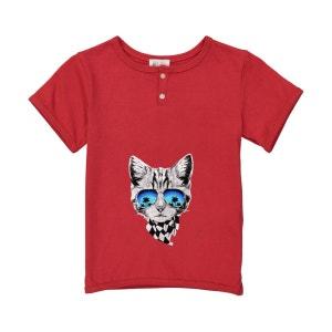 T-shirt garçon imprimé - chat foulard BOBINE