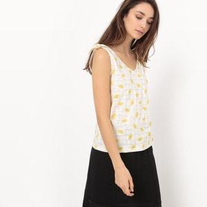 T-shirt met citroenprint en strik R édition