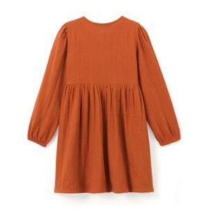 Sukienka rozszerzana, rozkloszowana, półdługa, długi rękaw La Redoute Collections