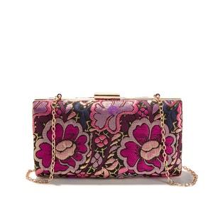 Floral Print Box Clutch Bag La Redoute Collections