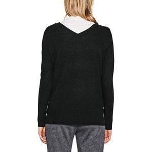 Fine Knit V-Neck Jumper ESPRIT
