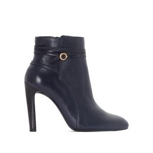 Boots cuir talon haut lanières croisées La Redoute Collections