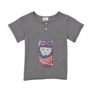Tee-shirt garçon - chat foulard BOBINE