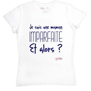 T-shirt femme en coton Je suis une maman imparfaite Et alors RIGOLOBO