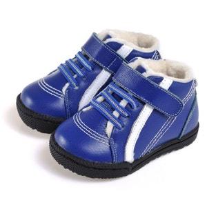 Chaussures semelle souple ultra résistante  Baskets bleues bande blanche CAROCH