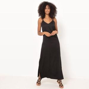 Robe longue, fines bretelles La Redoute Collections