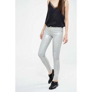 Jeans The Ankle Skinny Current Elliott Gris Metalise CURRENT ELLIOTT