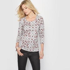 T-shirt estampada, com grande percentagem de algodão stretch ANNE WEYBURN