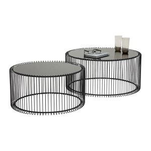 Tables basses rondes Wire noir set de 2 Kare Design KARE DESIGN