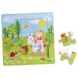 Puzzle Cadre en bois 9 pièces : Le Jardin Féérique HABA
