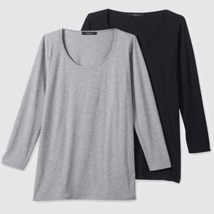 T-shirt met lange mouwen, in katoen, (set van 2) CASTALUNA