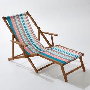 Chaise longue acacia et toile La Redoute Interieurs