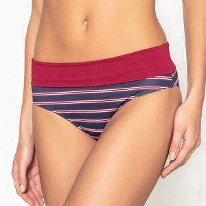 Culotte per bikini a righe, vita alta La Redoute Collections