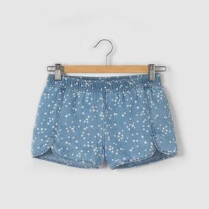 Printed Denim Shorts, 10 - 16 Years R pop