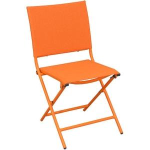 Chaise pliante textilène et acier (Lot de 2) PROLOISIRS