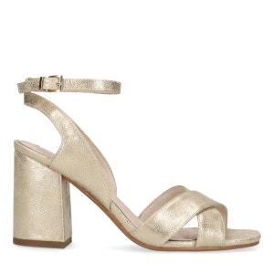 Sandales à talon métallisées SACHA