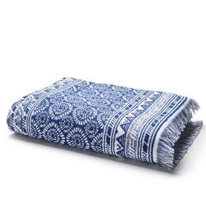Azul Jacquard Bath Towel La Redoute Interieurs
