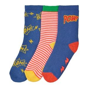 3er-Paar Socken, Gr. 15/16 bis 23/26 R essentiel