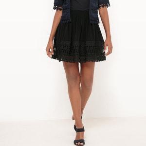 High-Waisted Full Skirt in Leaf Lace MOLLY BRACKEN