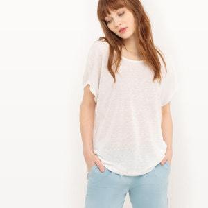 Tee-shirt, col rond, manches courtes VILA