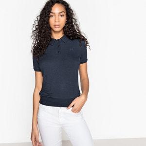 T-shirt a coste, collo a polo, maniche corte MADEMOISELLE R