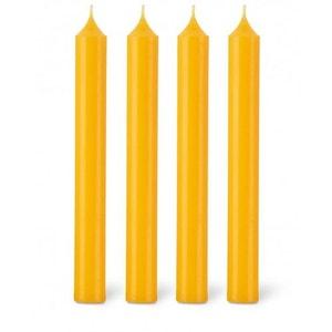 Coffret 12 bougies classiques 11h jaune safran BOUGIES LA FRANÇAISE