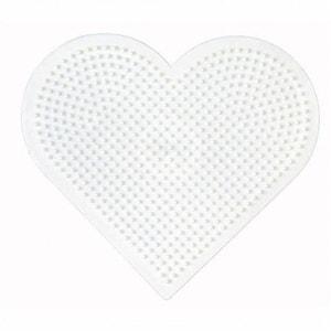 Grande plaque pour perles à repasser Midi : Coeur HAMA